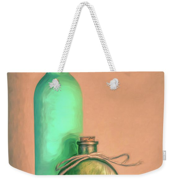 Glass Bottle Composition Weekender Tote Bag