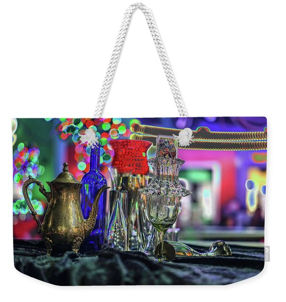 Glass In The Frame Of Colorful Hearts Weekender Tote Bag