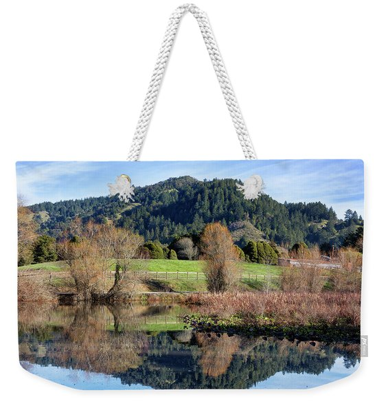 Glassy Mountain Reflections Weekender Tote Bag