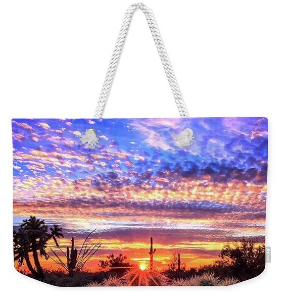 Glimmering Skies Weekender Tote Bag