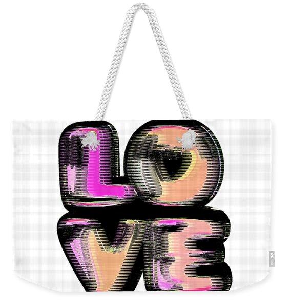 Glitch Weekender Tote Bag