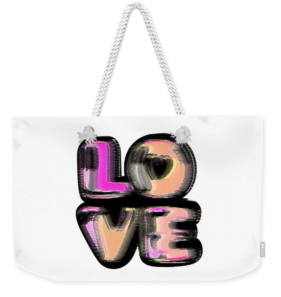 Weekender Tote Bag featuring the digital art Glitch by Bee-Bee Deigner