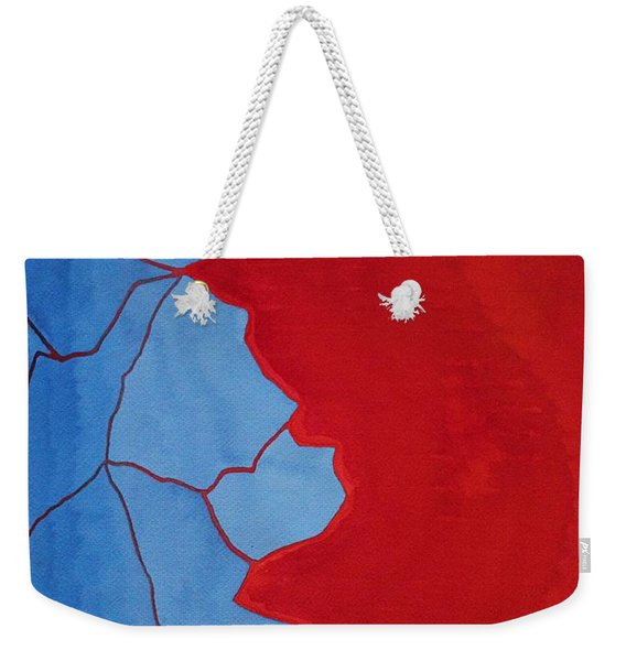 Glitch In The Matrix Original Painting Weekender Tote Bag