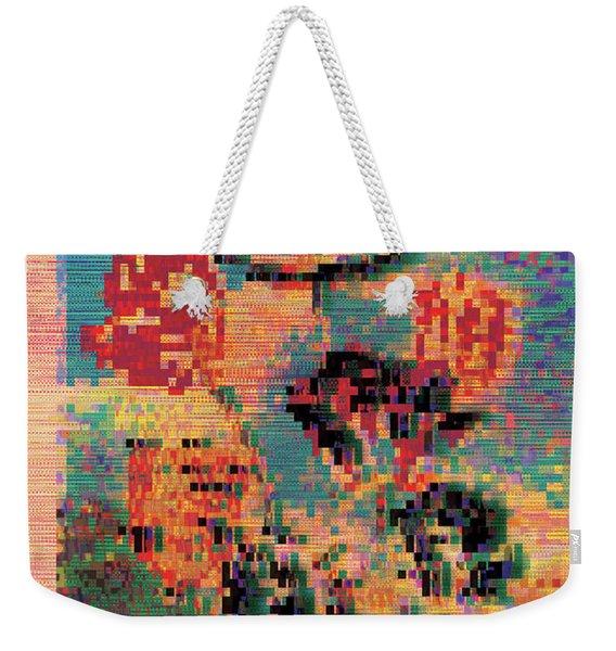Glitched Tulips Weekender Tote Bag