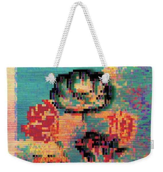 Weekender Tote Bag featuring the digital art Glitched Tulips by Bee-Bee Deigner