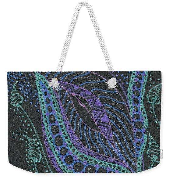 Glitter Flower Weekender Tote Bag