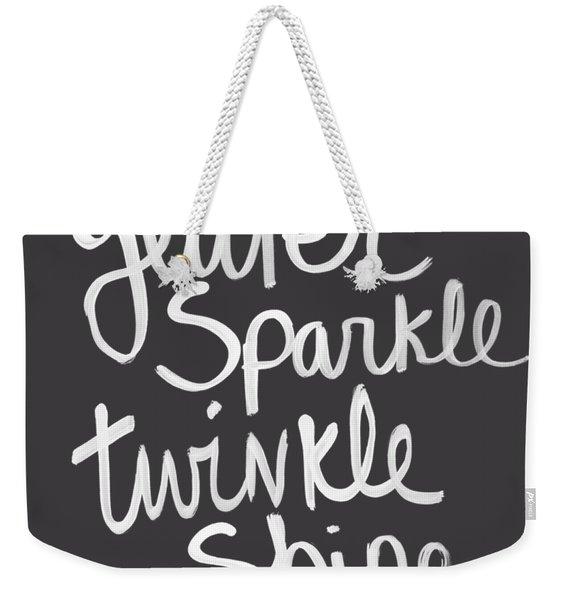 Glitter Sparkle Twinkle Weekender Tote Bag