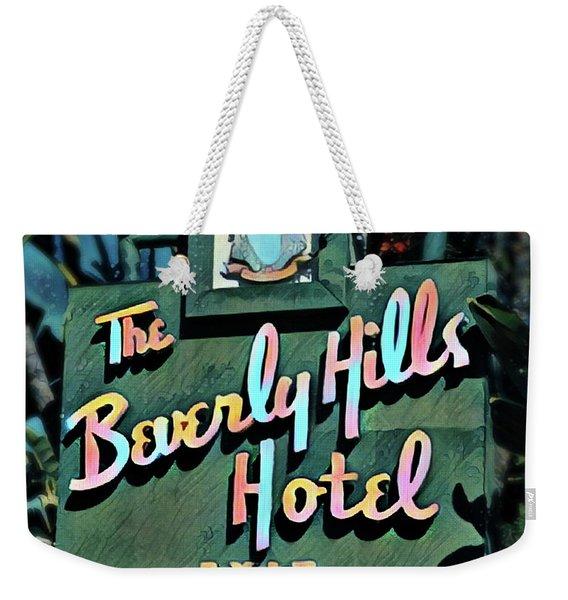 Glitzy Beverly Hills Hotel Weekender Tote Bag
