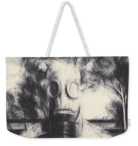 Vintage Gas Mask Terror Weekender Tote Bag