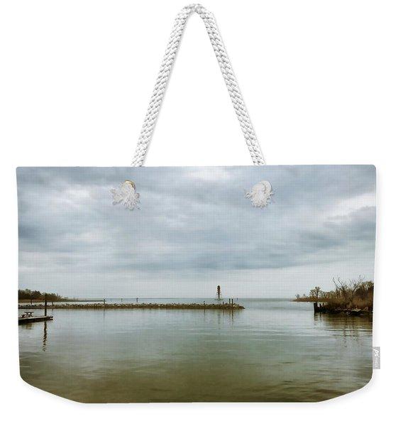 Gloom On The Bay Weekender Tote Bag