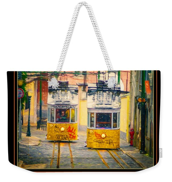 Gloria Funicular Lisbon Poster Weekender Tote Bag
