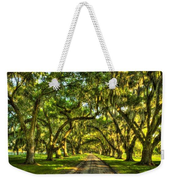 Glorious Entrance Tomotley Plantation South Carolina  Weekender Tote Bag