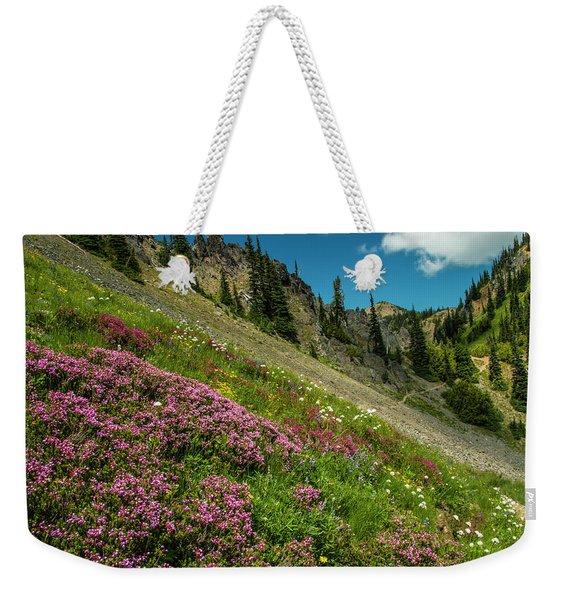 Glorious Mountain Heather Weekender Tote Bag
