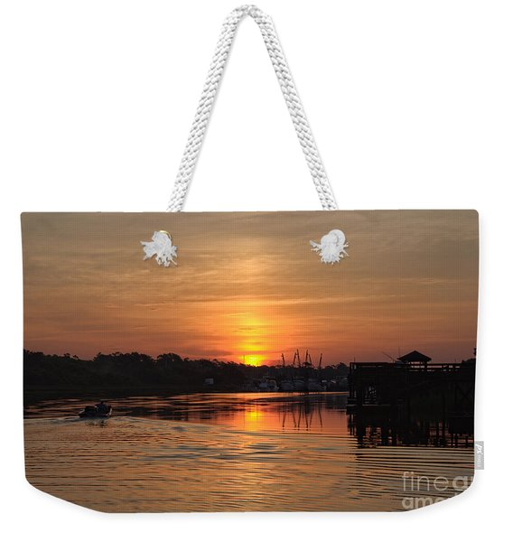 Glory Of The Morning On The Water Weekender Tote Bag