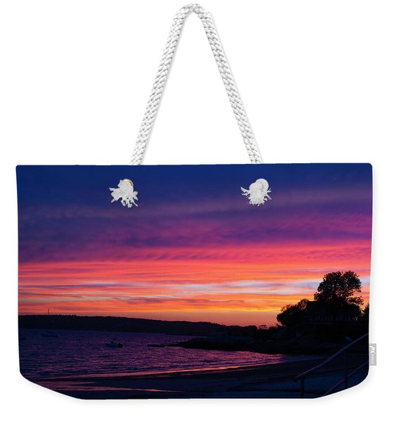 Gloucester Harbor Beach Weekender Tote Bag