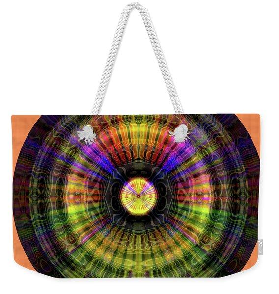 Weekender Tote Bag featuring the digital art Glow Wheel Seven by Visual Artist Frank Bonilla