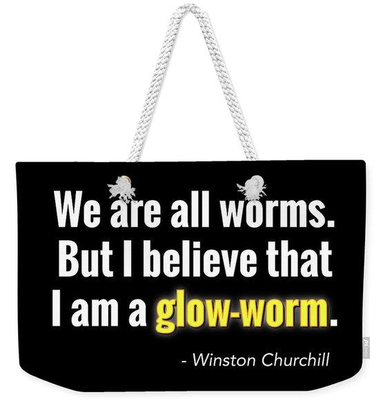 Glow Worm Weekender Tote Bag