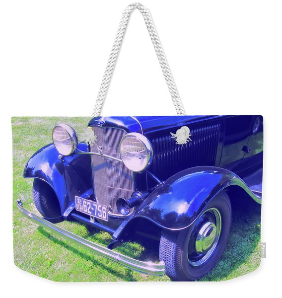 Glowing Blue Weekender Tote Bag
