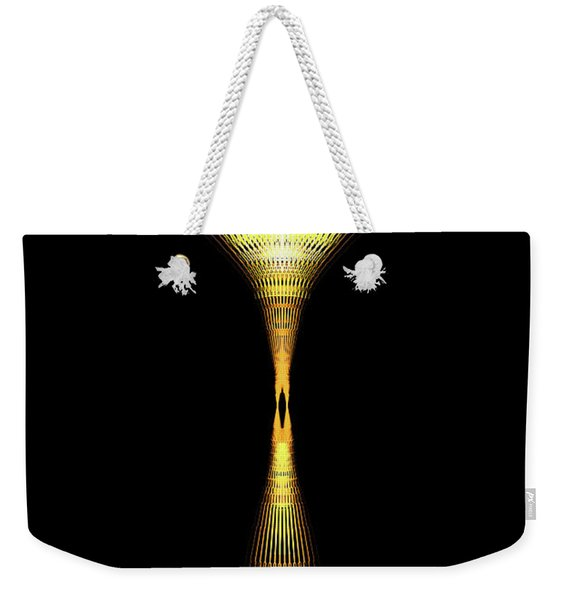 Glowing Brass Lamp Stand Weekender Tote Bag