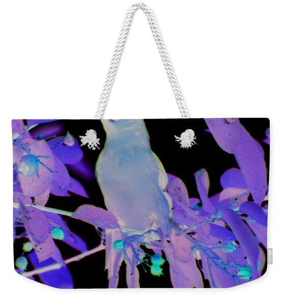 Glowing Cedar Waxwing Weekender Tote Bag