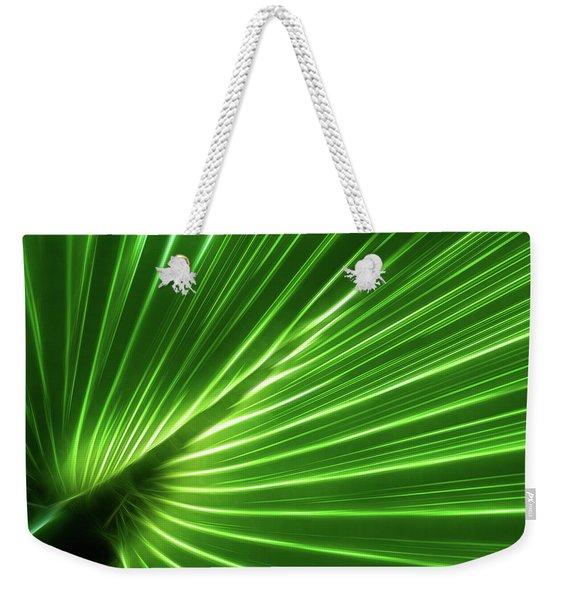 Glowing Palm Weekender Tote Bag