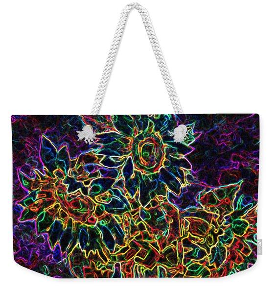 Glowing Sunflowers Weekender Tote Bag