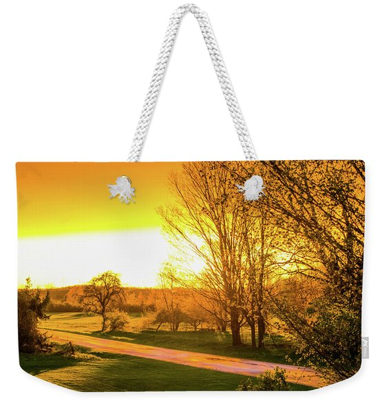 Glowing Sunset Weekender Tote Bag