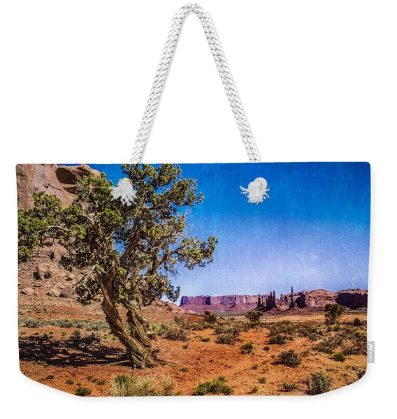 Gnarled Utah Juniper At Monument Vally Weekender Tote Bag