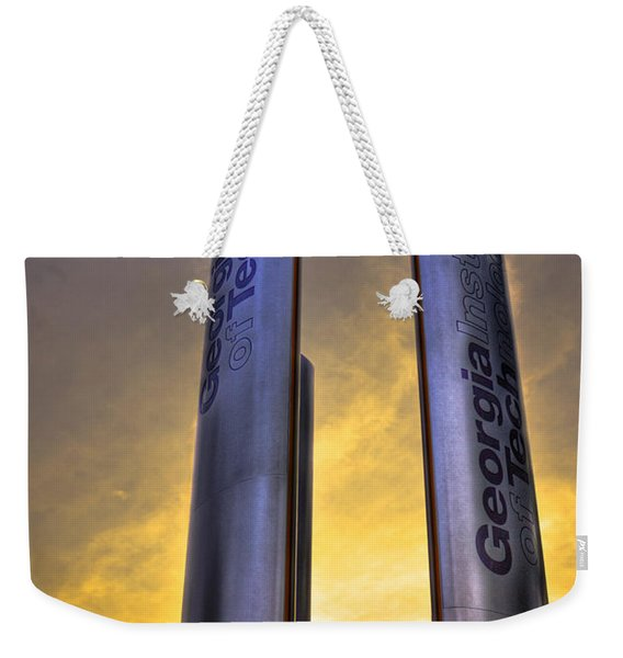 Go Tech Georgia Tech Sunset Art Weekender Tote Bag