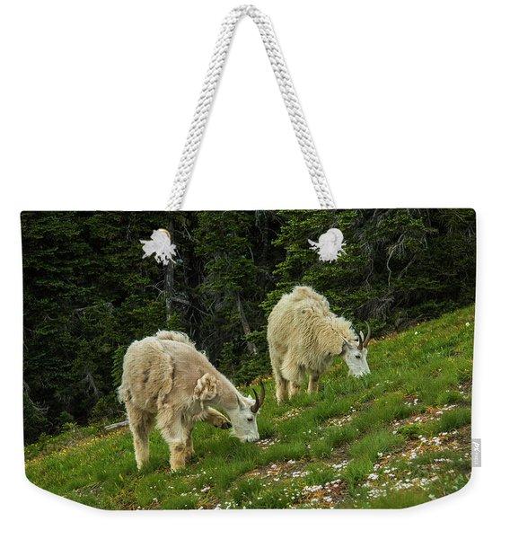 Goat Garden Weekender Tote Bag