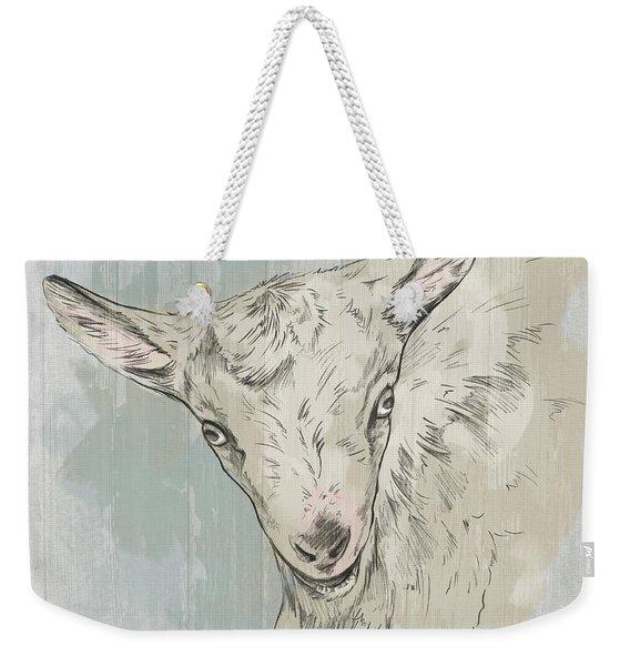 Goat Portrait-farm Animals Weekender Tote Bag