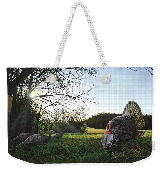 Gobbler's Morning Dance Weekender Tote Bag
