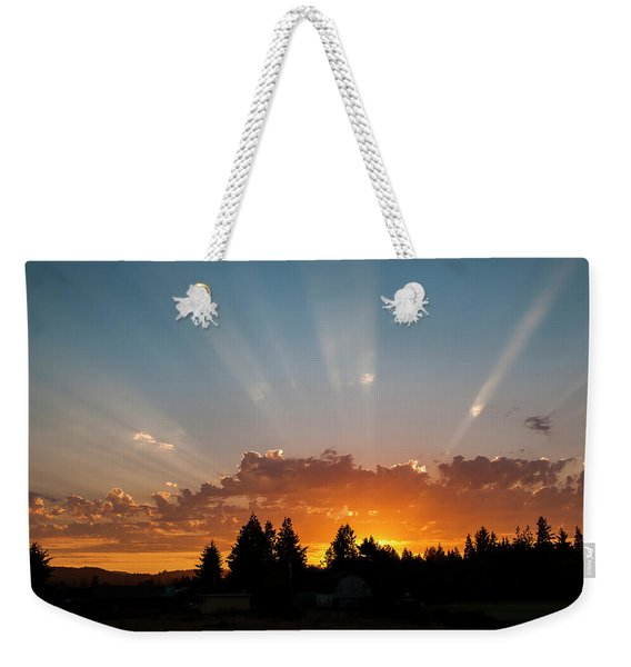 God Beams Weekender Tote Bag