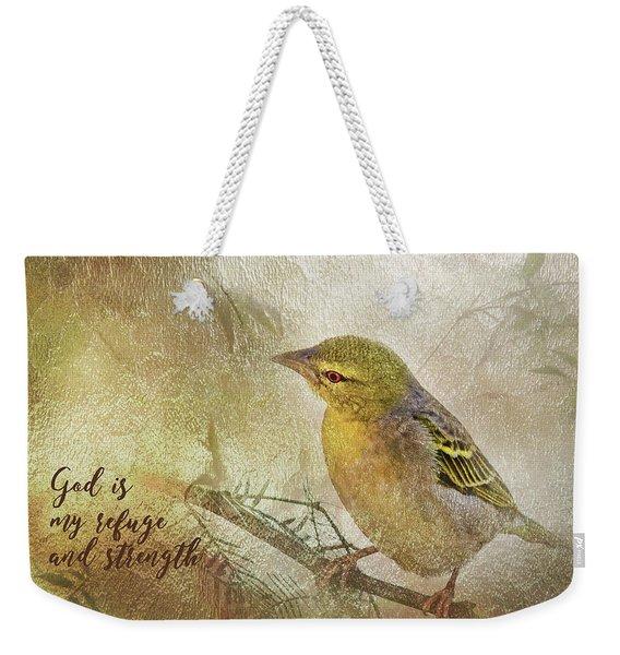 God Is My Refuge Weekender Tote Bag