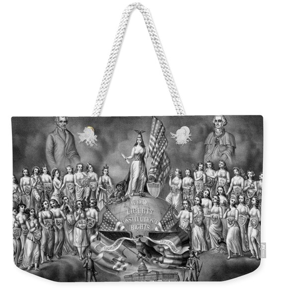 God Liberty And Constitutional Rights Weekender Tote Bag