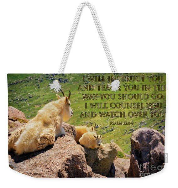 God Will Watch Over You Weekender Tote Bag