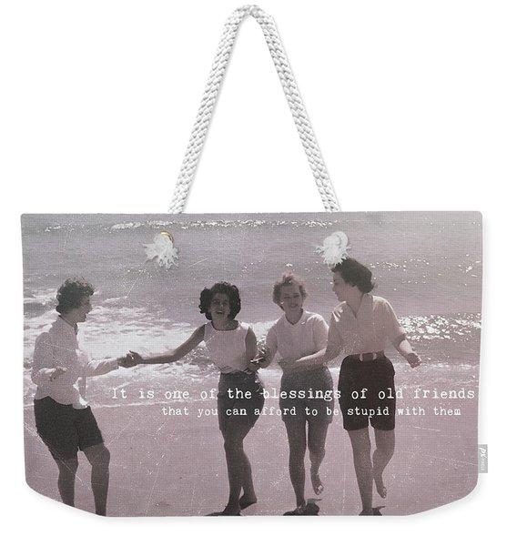 Goddess Gathering Quote Weekender Tote Bag