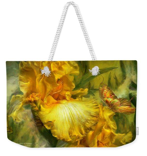 Goddess Of Summer Weekender Tote Bag