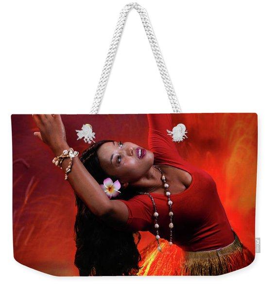 Goddess Pele Weekender Tote Bag