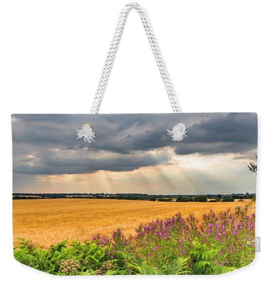 Weekender Tote Bag featuring the photograph Gods Light by Nick Bywater