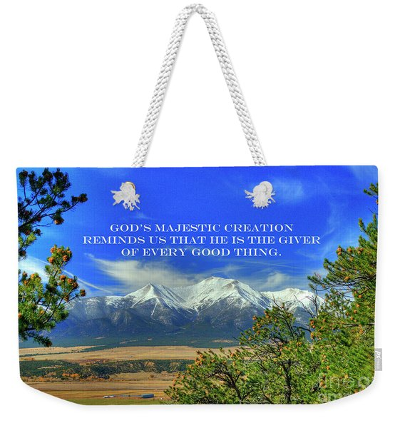 God's Majestic Creation Weekender Tote Bag