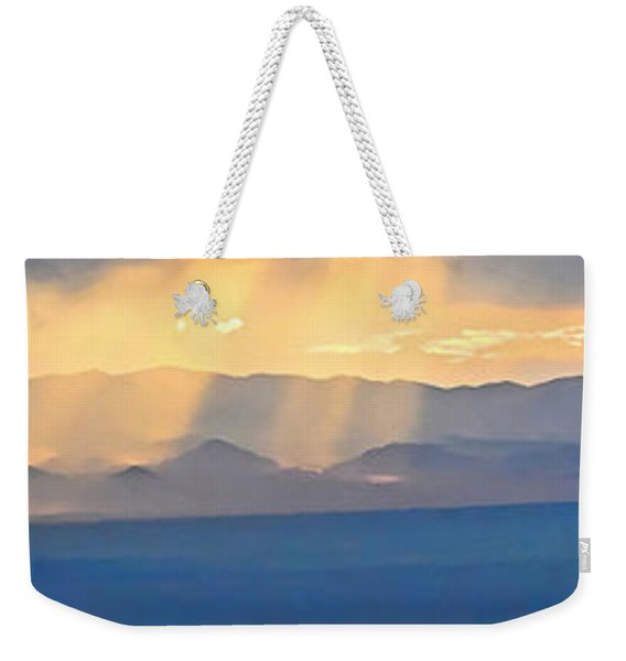 God's Rays Over The Great Basin  Weekender Tote Bag
