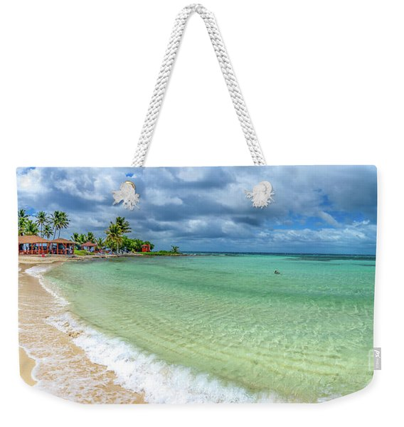 Goff's Caye Belize Pano Weekender Tote Bag