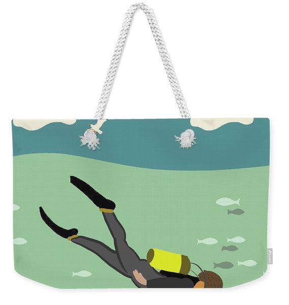 Going Deep Weekender Tote Bag