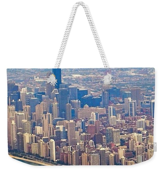 Going In For A Landing At #chicago Weekender Tote Bag