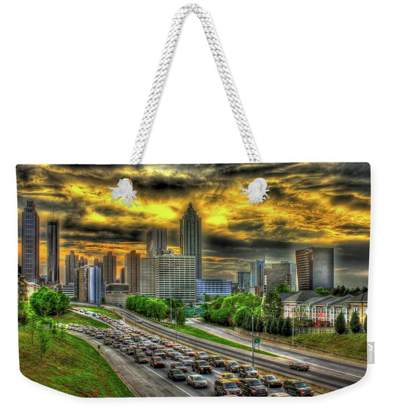 Going Nowhere Fast Atlanta Downtown Sunset Art Weekender Tote Bag