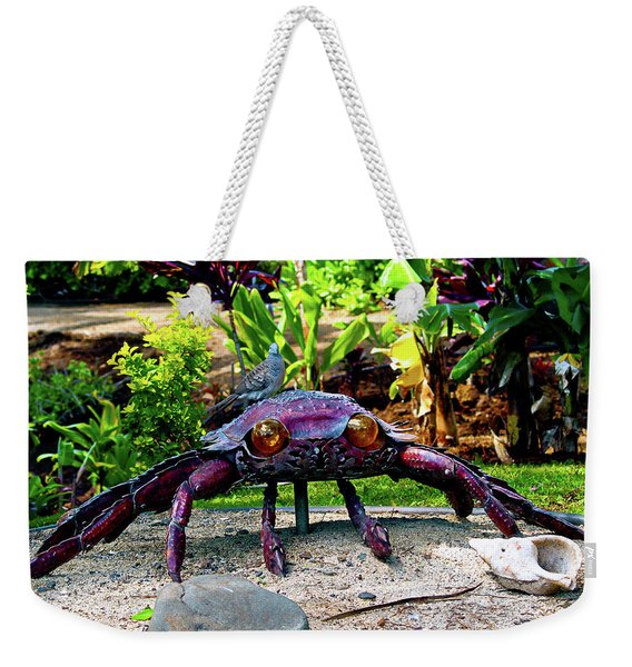 Going Piggyback On A Crab Weekender Tote Bag