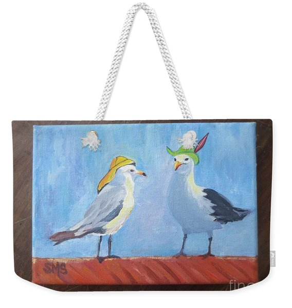Going To The Hat Parade Weekender Tote Bag