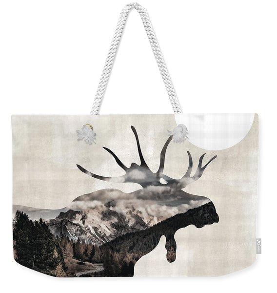 Going Wild Moose Weekender Tote Bag