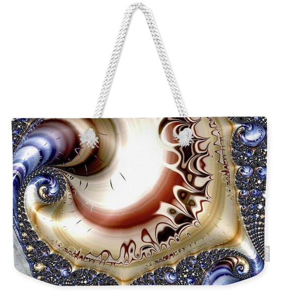 Gold And Blue Weekender Tote Bag